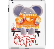 Be Warm! - Rondy the Elephant in his favorite sweater iPad Case/Skin