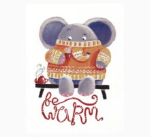 Be Warm! - Rondy the Elephant in his favorite sweater Kids Tee