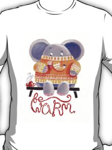 Be Warm! - Rondy the Elephant in his favorite sweater T-Shirt