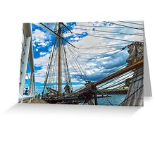 Tall Ship in Port Greeting Card