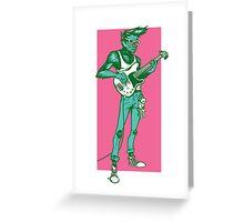 Rock 'n Roll Wolf Greeting Card