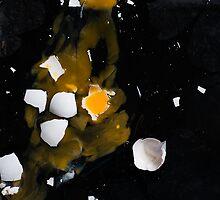 Egg universe - broken egg on a dark background by katiawhite