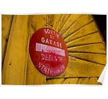 Garage door Poster