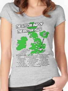 The Sitcom Map of the British Isles Women's Fitted Scoop T-Shirt