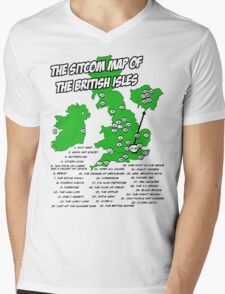 The Sitcom Map of the British Isles Mens V-Neck T-Shirt
