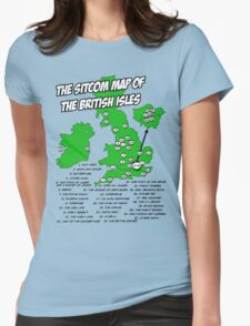 The Sitcom Map of the British Isles Womens Fitted T-Shirt