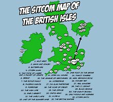 The Sitcom Map of the British Isles Unisex T-Shirt