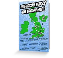 The Sitcom Map of the British Isles Greeting Card