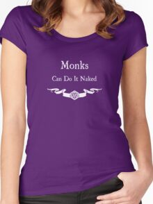Monks can do it naked (For Dark Shirts) Women's Fitted Scoop T-Shirt
