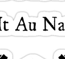 Druids Do It Au Naturel Sticker