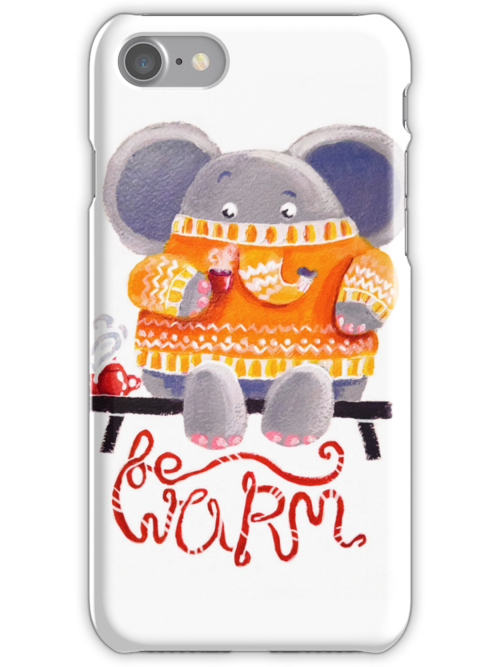Be Warm! - Rondy the Elephant in his favorite sweater by oksancia