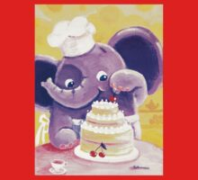 Baking - Rondy the Elephant making a delicious cake One Piece - Long Sleeve
