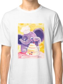 Baking - Rondy the Elephant making a delicious cake Classic T-Shirt