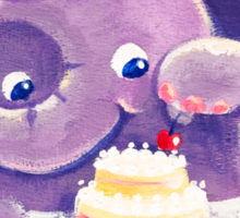 Baking - Rondy the Elephant making a delicious cake Sticker
