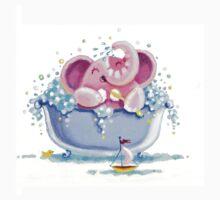 Bath Time - Rondy the Elephant taking a bubble bath Kids Clothes
