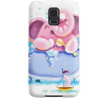 Bath Time - Rondy the Elephant taking a bubble bath Samsung Galaxy Case/Skin
