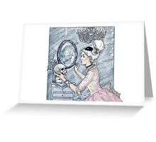 Marie Antoinette Halloween Blue Greeting Card