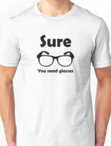 Hipster Glasses Blur Unisex T-Shirt