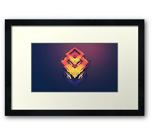 Abstract Cube Framed Print