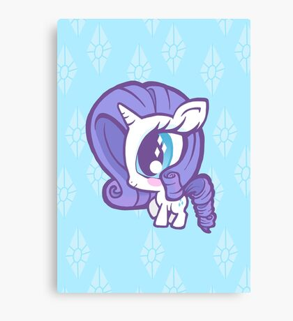 Weeny My Little Pony- Rarity Canvas Print