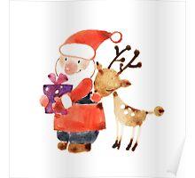 Santa and Rudolf (Rudolph) Poster