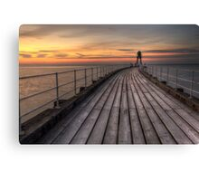 Whitby West Pier Canvas Print
