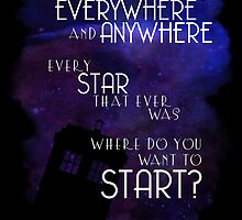 Doctor Who Quote - Everywhere and Anywhere by Denise Giffin