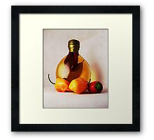Peppers And Oil Framed Print