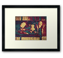 Vintage Ghost Chilies Framed Print