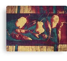 Vintage Ghost Chilies Canvas Print
