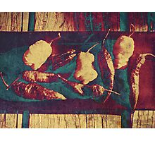 Vintage Ghost Chilies Photographic Print