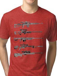Sniper Rifles Tri-blend T-Shirt