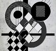 Which Way is Up - Black and White by SRowe Art