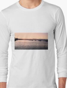 Sunset creates Silhouettes Long Sleeve T-Shirt
