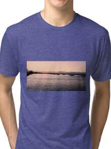 Sunset creates Silhouettes Tri-blend T-Shirt