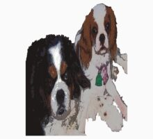 Cavalier King Charles dogs by ESN7