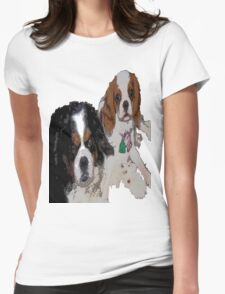 Cavalier King Charles dogs Womens Fitted T-Shirt