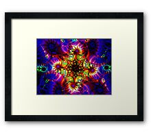 Fired Synapse of the Holographic Mind Framed Print