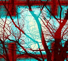 Harmonious Colors - Red White Turquoise by SRowe Art