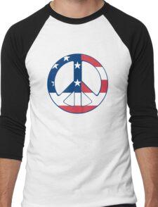 American Peace Symbol Men's Baseball ¾ T-Shirt