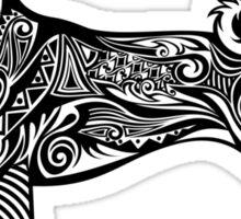 Tribal Style Basenji Sticker