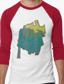 Colored abstract Design Men's Baseball ¾ T-Shirt