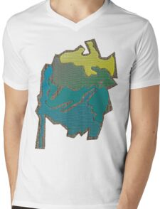Colored abstract Design Mens V-Neck T-Shirt