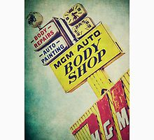 MGM Auto Body Shop Vintage Sign Unisex T-Shirt