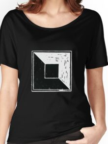 square minimal woodcut Women's Relaxed Fit T-Shirt