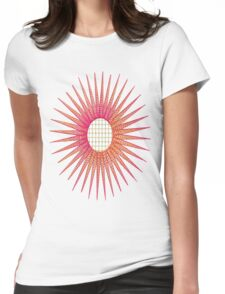 Flower with Lace Burst Womens Fitted T-Shirt