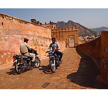 Motorcycles Amber Fort, India  Photographic Print