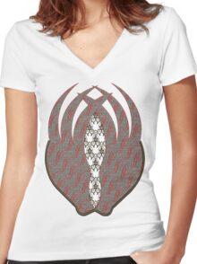 Vintage Design Women's Fitted V-Neck T-Shirt