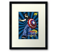 DW is ready for Action Framed Print