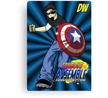DW is ready for Action Canvas Print